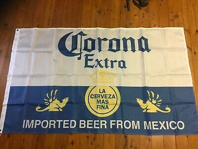 Corona Mexican beer bar flag 5x3 foot man cave pool room wall hanging shed