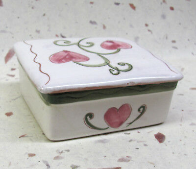 1950's Stangl - Terra Rose - Pottery - Trinket Box - Hearts - Numbered