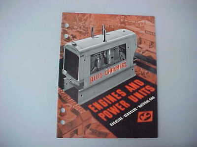 1938 A-C (Allis-Chalmers) Engines And Power Units Brochure