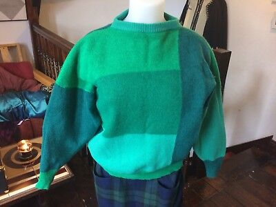 Vintage Emerald Green Mohair Jumper Small Grunge Festival New Wave