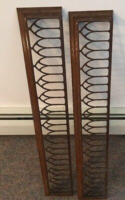 2 Antique Metal Heater Vent Grill Grate