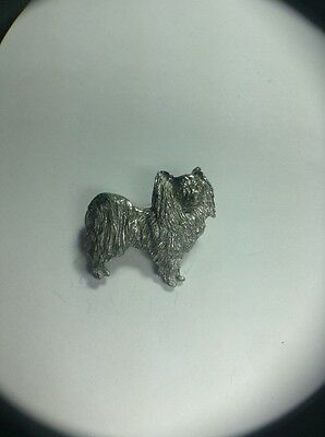 Papillon Dog Pin Made Of Fine Pewter