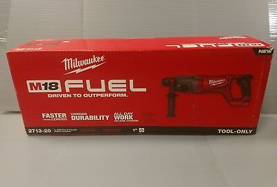 NEW Milwaukee 2713-20 M18 Fuel Cordless D-Handle Rotary Hammer Drill (TOOL ONLY)