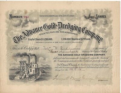 Stk-The Advance Gold-Dredging Co. 1900 Pot Holes, San Diego Cty, CA See image #6