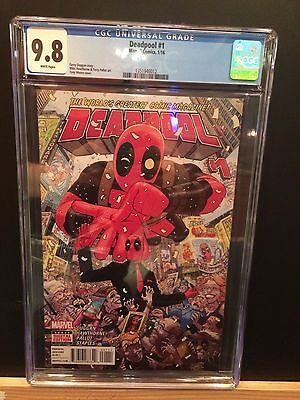 Marvel 2016 Deadpool #1 Cgc 9.8! New Case First Print!!key First Issue!