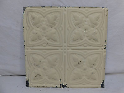 "12"" x 12"" Antique Tin Ceiling Tile - C. 1890 Fluer De Lis Architectural Salvage"