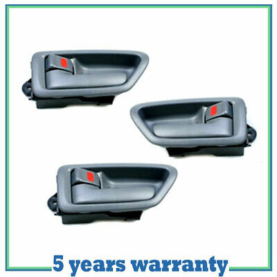 1997-2001 For Toyota Camry Left & Right Inside Door Handle Gray SET 3PCS DS66