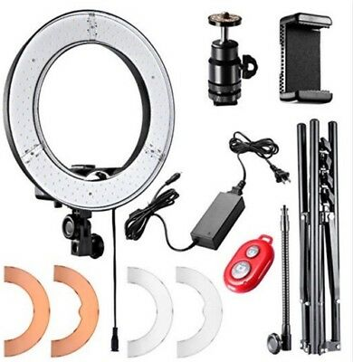 14''Outer180pcs LED SMDSmall RingLight5500K Dimmable f smartphone/camera W Stand