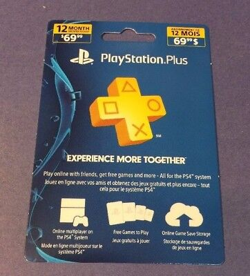 Sony PlayStation Plus Card PS Plus [ 12 Month / 1 Year ] (PS3 PS4 PS VITA) NEW