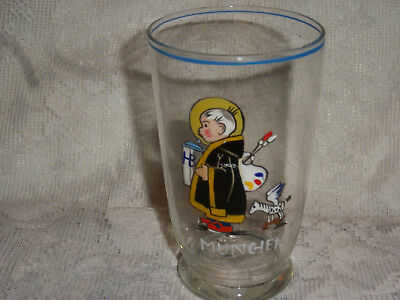 Vintage HB H0FBRAUHAUS MUNCHEN YOUNG ARTIST BEER GLASS GERMANY