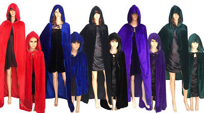 US SHIP Christmas Costume Vampire Witchcraft Gothic Hooded Cloak Wicca Robe