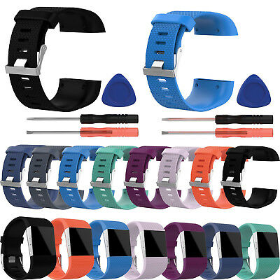 Replacement Banda Correa Wristband + Tools Buckle Para Fitbit Surge Tracker