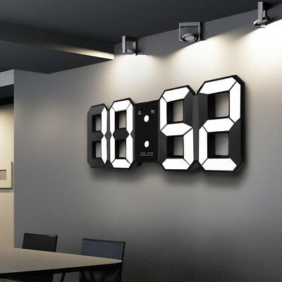 Digoo DC-K3 Large 3D LED Digital Wall Clock Alarm Clock With Snooze Function -UK