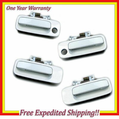 Outside Door Handle Set 4pcs New For 97-01 Toyota Camry 051 Diamond White Pearl