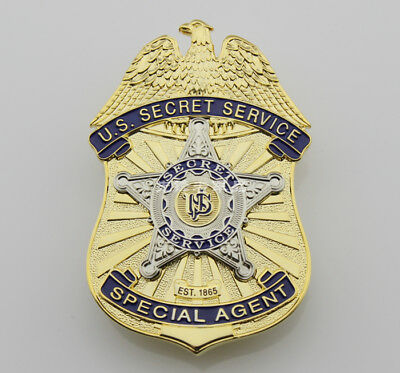 U.s Secret Service Usss Copper Badge Pin Real Size Emblem Collectibles Halloween