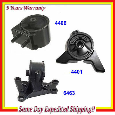 01-02 Mazda 626 2.0L A//T Set Front  Engine Motor /& Transmission Mount 3pc Kit