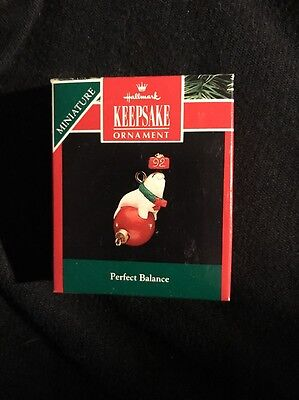 1992 Hallmark Miniature Ornament Perfect Balance Seal