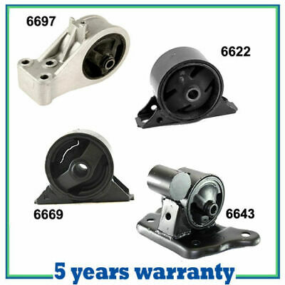 For 99-02 Mitsubishi Mirage 1.5L Engine Motor /& Trans Mount Kit 4PCS Auto M1022