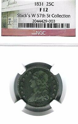1831 Capped Bust Quarter : NGC F12