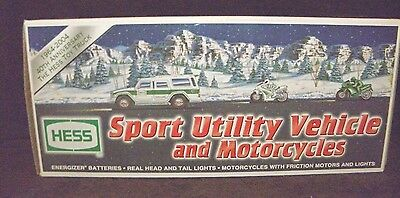 2004 Amerada Hess Sport Utility Vehicle And Motorcycles In Mint Condition