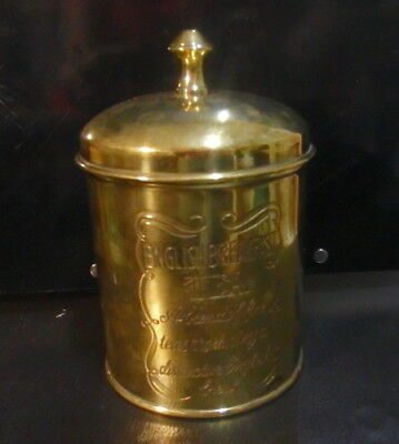Heavy Brass Tea Caddy