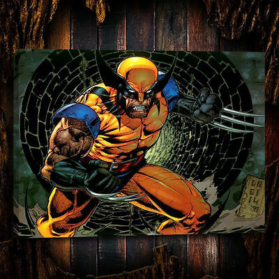 HD Print Oil Painting Wall Decor Art on Canvas Wolverine 12x16inch-03 Unframed