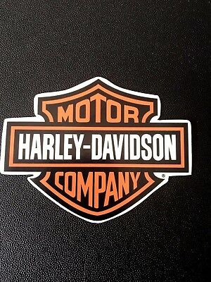 Harley Davidson sticker decal, High Quality printed on a clear (85x110 mm)