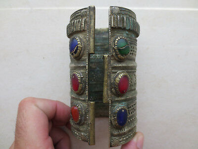 ANTIQUE 18th Century OTTOMAN SILVER ALLOY FOLK BRACELET - EXTREMELY RARE TYPE!