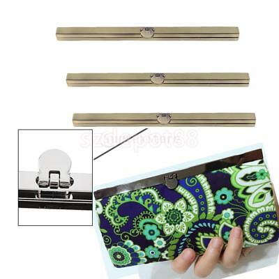 3PCS - Alloy DIY Frame Wallet Bag Making Supplies Clasp Fastening 7.48 inch