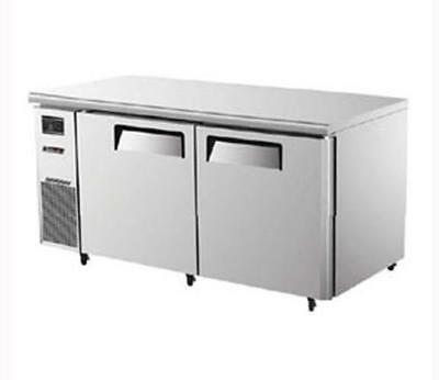 "Turbo Air 60"" Side Mount Undercounter Freezer 2 Swing Doors JUF-60"