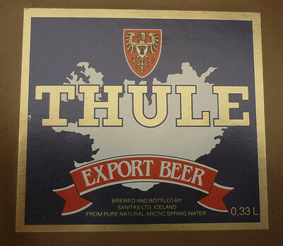 Old Iceland Beer Label, Sanitas Reykjavik, Thule Export Beer