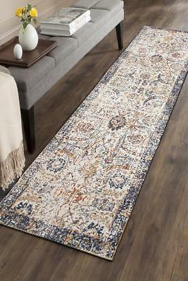 Hallway Runner Hall Runner Rug Modern Blue 4 Metres Long FREE DELIVERY Edith 552