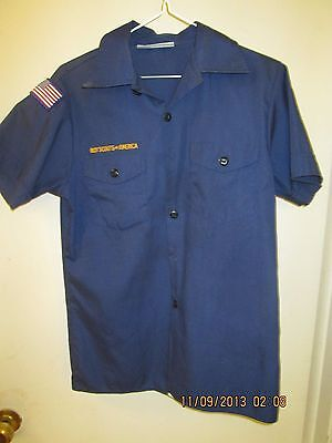 BSA/Boy, Cub Scout Navy Blue Shirt, Short Sleeve Youth/Boys -7