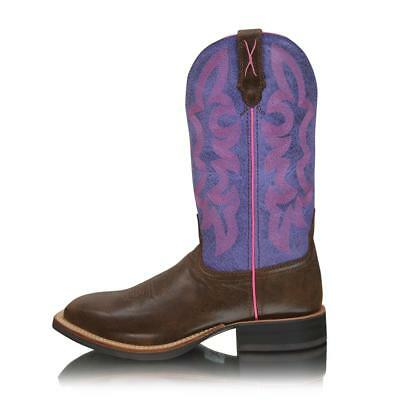 *NEW* Womens Purple Ruff Stock Genuine Leather Twisted x Boots TCWRS0002