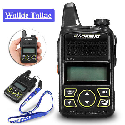 Baofeng BF-T1 Portable Walkie Talkie Radio FM Transceiver UHF 400-470MHz 20 CH