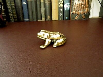 Victorian Brass Frog Match Striker/Holder