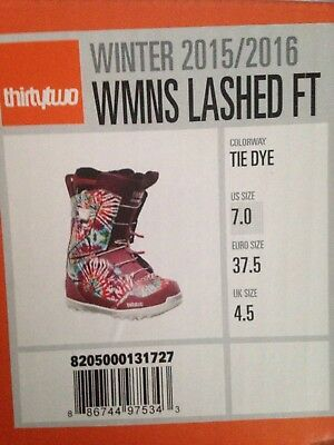 Thirtytwo 32 Lashed Womens Snowboard Boots Free Postage