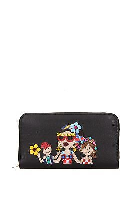 "Brieftasche Dolce&Gabbana "" patch d&g family ""  Damen - Leder (BI0473AI076)"