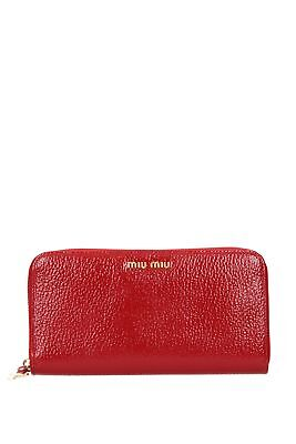 Brieftasche Miu Miu Damen - Lackleder (5ML506VITMADRASVERN)