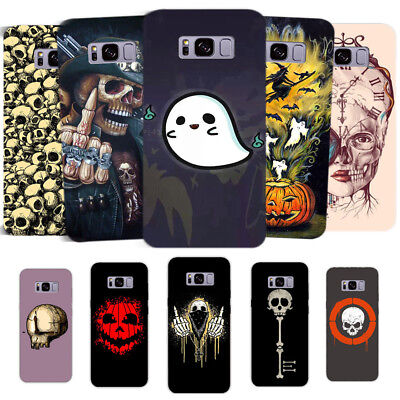 Halloween Skull Ghost Hard Phone Case Cover For Samsung Galaxy S6/7 S8 Plus Gift