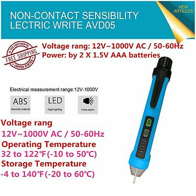 Bside AVD05 Non-contact Voltage Pen Detector Tester AC12-1000V Electric Power LI