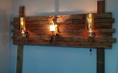 Custom feature wall Recycle wood wall light