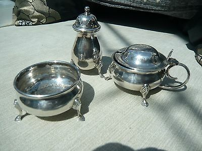 Cruet Sets With Liners Silver Plate
