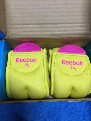 Reebok Ankle Weights NEW 1.0kg 1kg neoprene material one size fits all