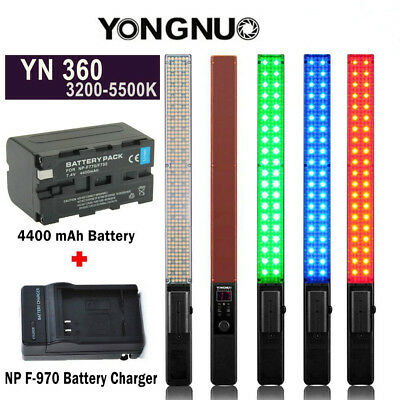 YONGNUO YN360 Pro Handheld LED Video Light 3200-5500K RGB Color With Charger US