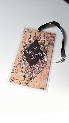 Marque Page Harry Potter Bookmark marauder's map wand baguette magique Geek