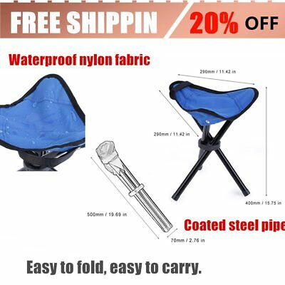 OUTAD Outdoor Foldable Hiking Backpacking Tripod Stool For Camping Fishing BTF