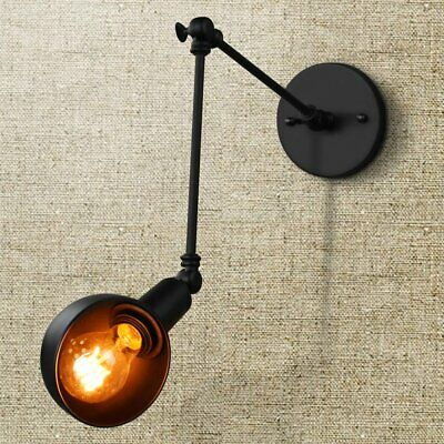 Vintage Industrial Adjustable Swing Arm Light Sconce Wall Lamp Light Fixture E27