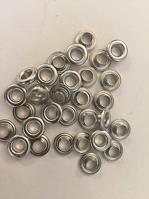 "500 pieces Stimpson #2 Nickel Plated 3/8"" Solid Brass Self Piercing Grommet ONLY"
