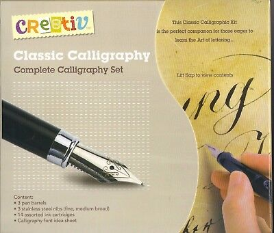 cre8tiv COMPLETE CLASSIC CALLIGRAPHY SET - NEW Boxed - FREE P & H in Australia
